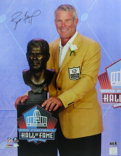 Brett Favre Autographed/Signed Green Bay Packers Hall of Fame Speech 16x20 Photo