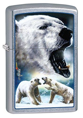 Polar Bear Mint (Zippo Custom Lighter: Mazzi Polar Bears - Street Chrome 78879)