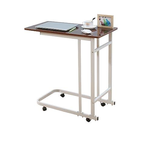 JI Bin Shop® Escritorio del Ordenador portátil Rotate Move Escritorio del hogar Mesa de enfermería
