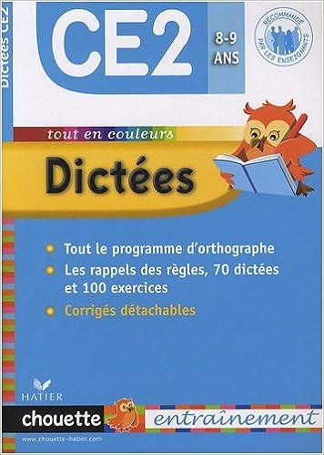 Livre gratuits en ligne Dictées CE2 pdf ebook