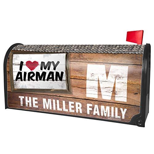 NEONBLOND Custom Mailbox Cover I Heart Love My Airman