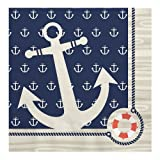 Big Dot of Happiness Ahoy Nautical - Party Luncheon Napkins (16 count)