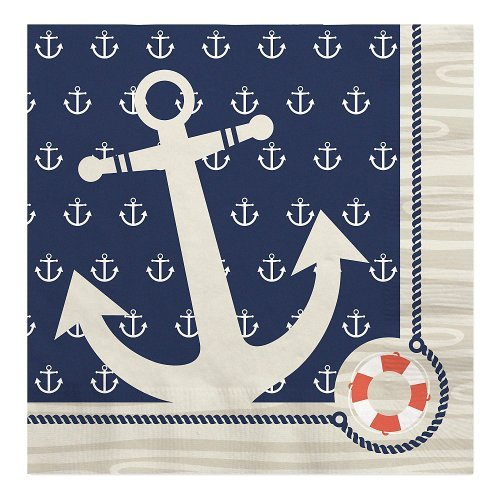 (Big Dot of Happiness Ahoy Nautical - Party Luncheon Napkins (16)