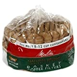 Melitta Basket Coffee Filters Natural Brown Unbleached 100 Count by Melitta