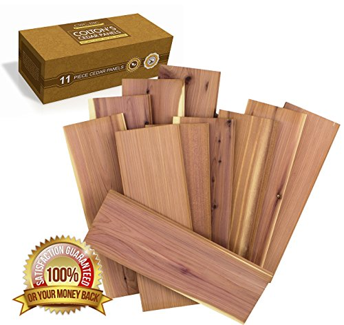 Cedar Wood Panels For Closet Storage Moth Repellent Fresh Cedar Smell (11- Pack) (Cedar Liner)