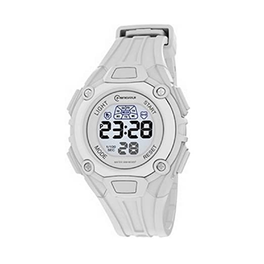 Montre Concept - Relojes digitales hombre Mingrui - Correa Plástico Blanco - Dial Redondo Fondo Blanco