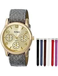 Women's XO9027 Seven Color Snake Interchangeable Strap Set Watch