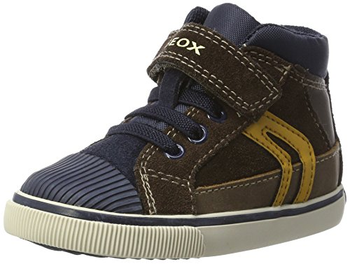 Geox Boys' Kiwi 94 Sneaker, Chestnut/Navy, 26 M EU Toddler (9 US)