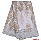 Laliva New Arrive African Lace Fabric Net Mesh Purple French Net Wedding Nigeria Embroidered Party Dress GD1666B-4 - (Color: Picture-1)