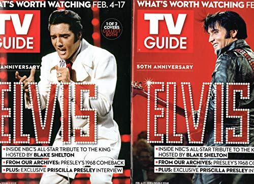 Lot of 2 Elvis Presley 50th Anniversary Comeback TV Guide February 4-17 2019 Collector's Covers