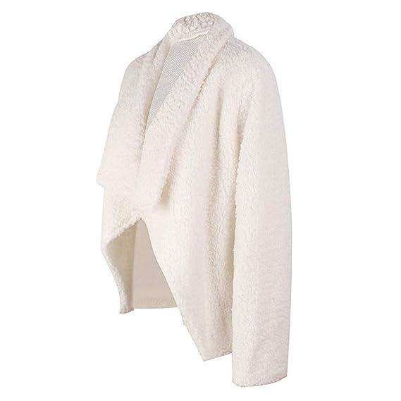 Yvelands Invierno para Mujer Abrigo de Felpa Chaqueta de Punto de Las señoras Chaqueta Informal Outwear Blusa Superior: Amazon.es: Ropa y accesorios