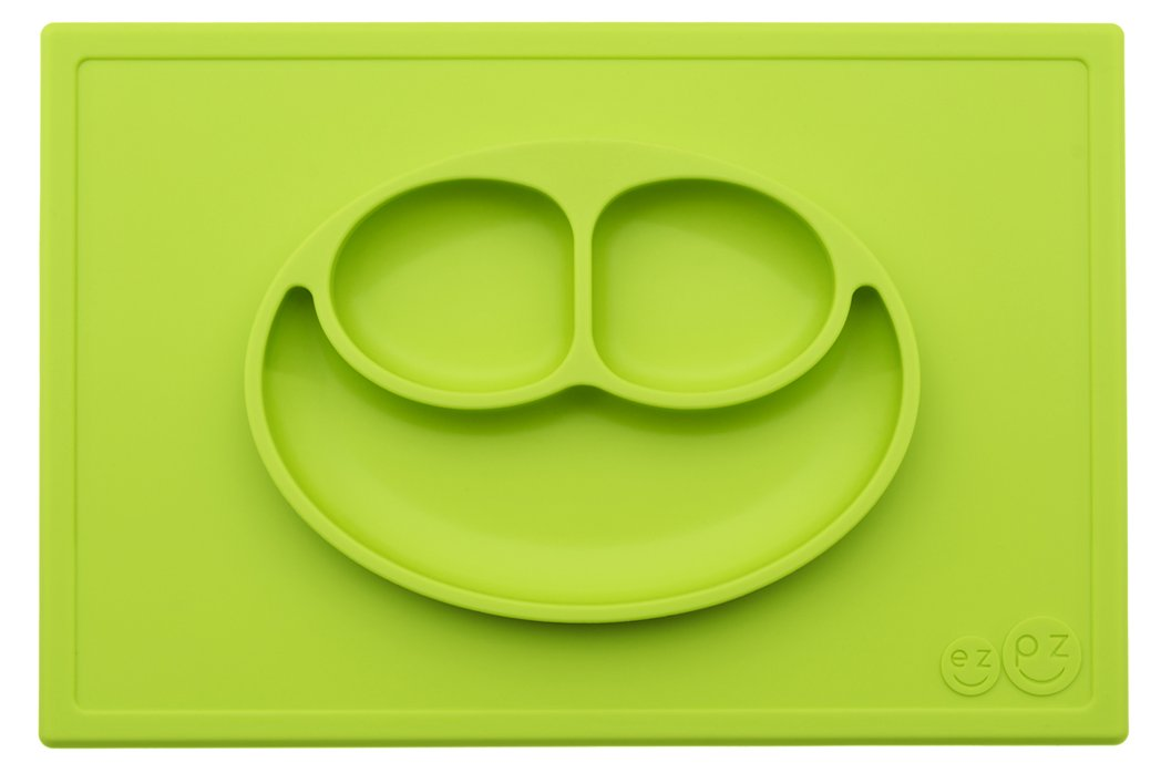 ezpz Happy Mat - One-piece silicone placemat + plate (Lime)