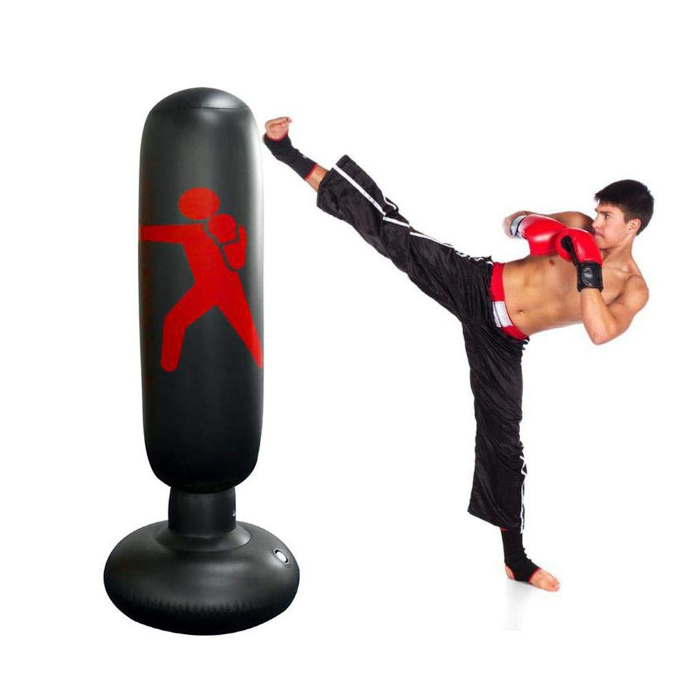 Self Standing Heavy Punching Bag Floor MMA Indoor Boxing Freestanding Striking