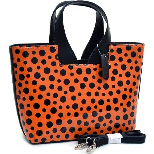 Fashion Tote Top Handle Satchel Zip Purse Vegan Handbag in Croco Embossing and Polka Dot Pattern (Croco Style Leather Handbag)