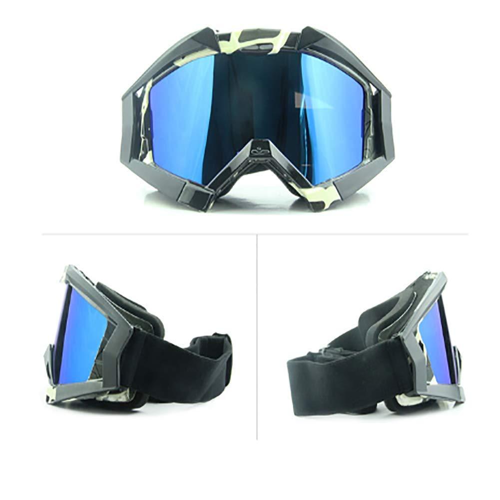 Multiuso Occhiali Moto Lente Colorata Aviatore Anti-UV Antivento Antipolvere Cruisers Occhiali Sportivi per Protezione