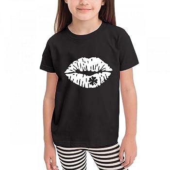Cool Irish Kiss Children Short Sleeve Crew Neck Graphic Tee Shirts Tops