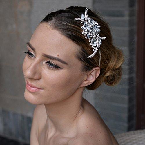 EVER FAITH Bridal Flower Bouquet Hair Headband Austrian Crystal Crown by EVER FAITH (Image #1)