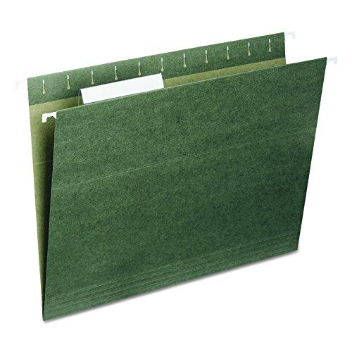 (Smead Hanging File Folder, 1/3-Cut Adjustable Tab, Letter Size, Standard Green, 25 per Box (64035))
