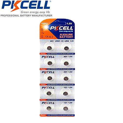 PKCELL AG1 LR621 LR60 SR621 SR621SW 164 364A 364 Alkaline Bu