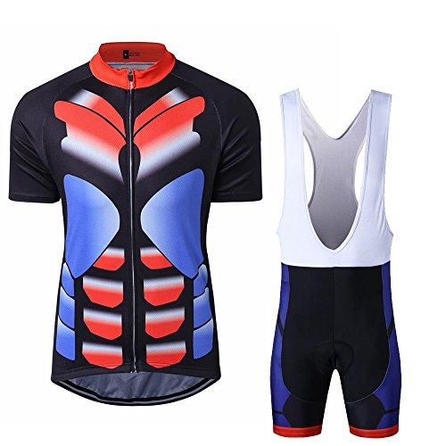 Maillot de Cyclisme pour Homme conception musculaire Sets manches courtes en jersey 3D Padded respirant Vélo séchage rapide