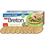 Dare Breton Gluten Free Entertaining Crackers, Herb and Garlic - Gluten Free Party Snacks with no Artificial Colors or Flavors - 4.76 Ounces (Pack of 6) Larger Image