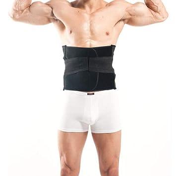 Hombres trimmer de la cintura, transpirable quemar grasa sudor peso pérdida cuerpo shaper deportes adelgazamiento estómago cinturón sudor gimnasio para,M: ...