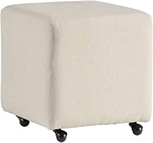 Progressive Furniture Upholstered Stool with Castered