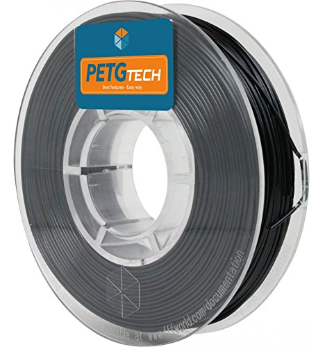 FFFworld PETG Tech 250 g. Black 1.75 mm - High performance PETG Filament for 3D Printer PETGTECH_250G_1.75MM_BLACK