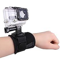 Huayang|360 Degree Rotating Wrist Strap Band Mount Holder For Gopro Hero 2 3 3+ 4 SJ4000