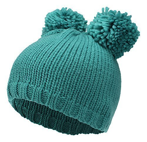 gestrickte Long Beanie farblich abgesetztem Bund Wintermütze lang Slouch Mütze