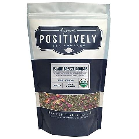 Organic Island Breeze Green Rooibos Tea, Loose Leaf Tea Bag, Positively Tea LLC. (1 LB.)