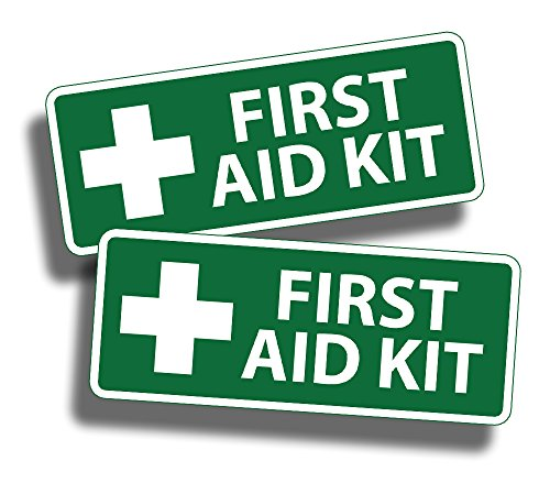 First Aid Sticker GREEN Decal for Emergency Case Kit Bin Container Box Kid Camp DIY Safety Safe 1st
