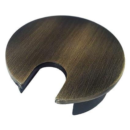 Metal Desk Grommet   Color: Brushed Bronze