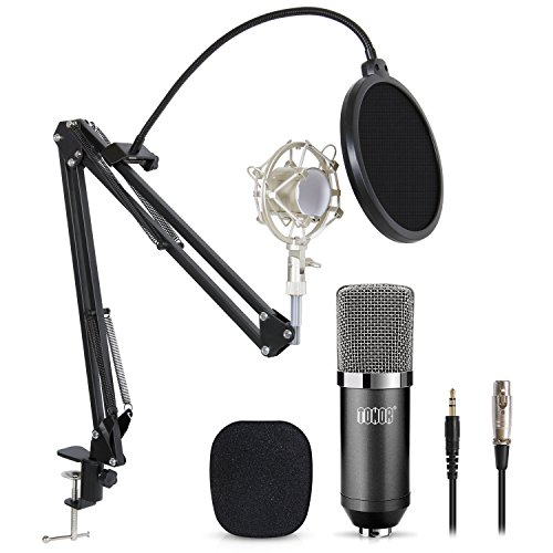 TONOR Professional Studio Condenser Microphone Computer PC Microphone Kit with 3.5mm XLR/Pop Filter/Scissor Arm Stand/Shock Mount for Professional Studio Recording Podcasting Broadcasting, (Mic Set)
