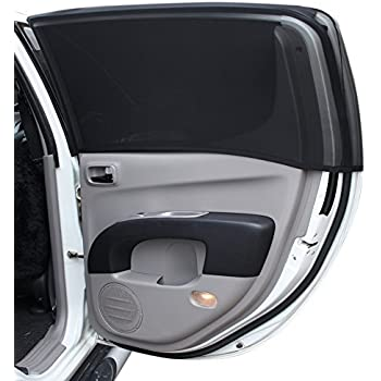 Premium Full Side Window Cover for Baby Car Sun Shade With Dual-Layer Protection   Protect Baby,Kids & Pets From Harmful UV Rays While Keeping Vehicle Interior Cool   Darker Shades Than Static Film