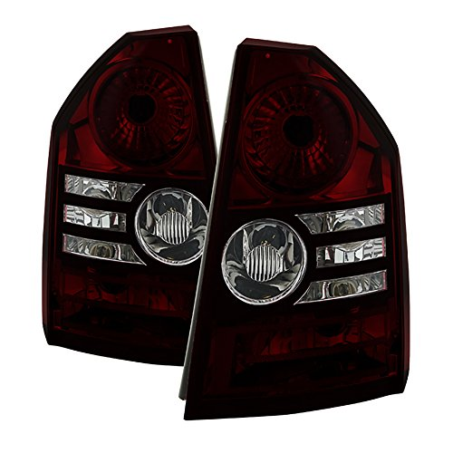 VIPMotoZ 2008-2010 Chrysler 300C Tail Lights - [Factory Style] - Rosso Red Housing, Smoke Lens, Driver and Passenger Side (Lamps Tail 300c)