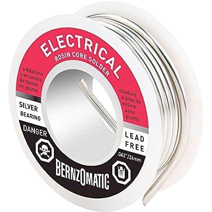 Amazon.com: BernzOmatic LRC464 4 oz. 60/40 Lead Bearing Rosin Core ...
