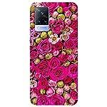 SmartNxt® Designer Printed Soft Plastic Mobile Cover for Vivo V21 5G  Pattern  Pink  Beautiful Pink Roses