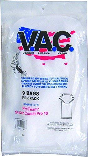 VACUUM AMERICA CLEAN VAC 23 PROTEAM Super Coach N/S Pro 10 H-10 HEPA Filtration (Pack of 9) by VACUUM AMERICA CLEAN
