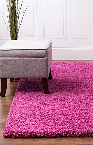 pink-shag-rug-2-feet-7-inch-by-8-feet-runner-stain-resistant-non-shed-kids-room-easy-care-2x8-carpet