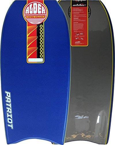 Ontano Patriot 111,8cm bodyboard–PE Core con canotta, Crescent Tail, 60/40rail, canali e graduato in HDPE. 8cm bodyboard-PE Core con canotta 60/40rail Alder