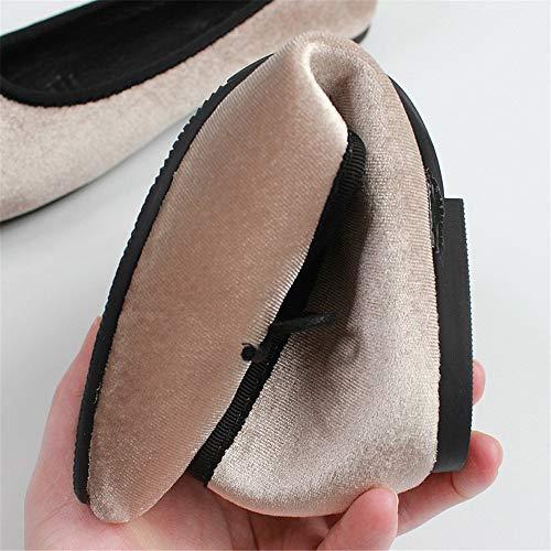 los Trabajo Mujeres de de Planos Terciopelo de Embarazadas Baja del satén la Parte de FLYRCX de Calzan Zapatos Zapatos Inferior Ocasionales Los de cómodos Boca Ballet Zapatos la Zapatos N Las y Suave wpFgq8