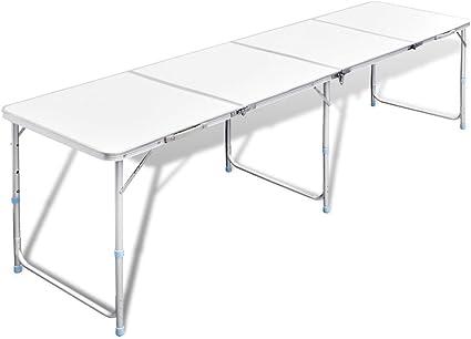 Vidaxl Tavolo Campeggio Alluminio Altezza Regolabile Tavola Pieghevole Viaggio Amazon It Casa E Cucina