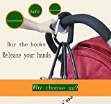 Large Aluminium Stroller Hook set 2 Pack (Black) by
