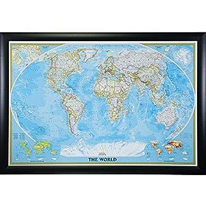 Craig Frames Classic World Travel Map