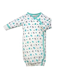 Babysoy baby-girls Organic Pattern Kimono Bundler