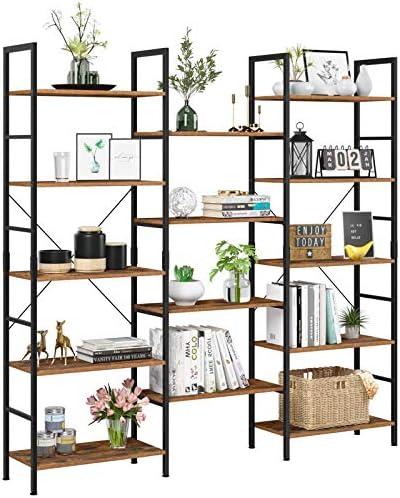 Reviewed: Homfa Triple Wide 5-Tier Bookcase