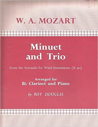 Amazon.com: Mozart Minuet and Trio for Bb Clarinet & Piano ...