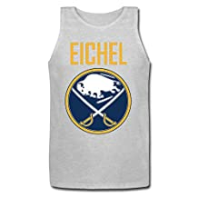 Mens Jack Eichel 15 With Buffalo Sabres Logo Basic Cotton Tank Top Jersey Tank