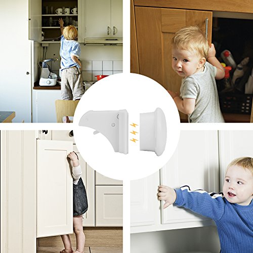 Linkax Baby Magnetic Locks Safety Cabinet Locks Child Magnet Drawer & Door Locks Set for Home Safety No Drilling (10 Locks + 2 Keys) by Linkax (Image #8)